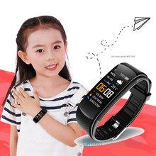 Moda inteligentny zegarek dzieci Smartwatch dla dzieci dla dziewcząt chłopcy elektroniczny inteligentny zegar dziecko Sport smart-zegarek dla wieku 6-18 lat tanie tanio JBRL CN (pochodzenie) Android OS Na nadgarstku Wszystko kompatybilny 128 MB Passometer Fitness tracker Uśpienia tracker