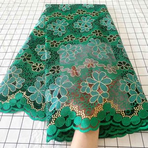 Image 5 - Aqua green African Swiss Voile Lace Fabric High Quality French Tulle Lace Fabric 2020 Nigerian Lace Guipure Embroidery Fabric
