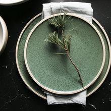 Эксклюзивная Керамическая обеденная тарелка kinglang мятного