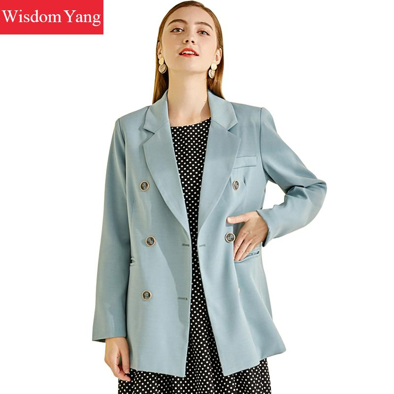 Spring Suits Jacket Womens Yellow Blue Female Coats Slim Elegant Casual Business Coats Jackets Office Ladies Outerwear Overcoat