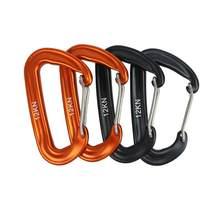 Mosquetão liga de alumínio fivela de segurança fixação gancho d-anel parafuso para escalada rede de alta resistência acessórios de escalada