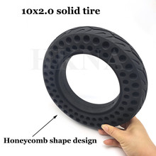 10x2.0 Explosion-Proof Solid Tire 10 inch Universal Wear-resisting Non-inflatable Honeycomb Solid Tyres Electric Scooter Wheel suitable for xiaomi m365 electric scooter solid honeycomb explosion proof stab proof tire free inflatable rubber tire 8 5 2 0