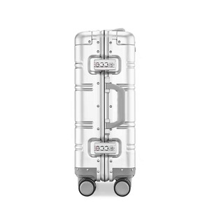 Image 5 - Alle aluminium magnesium legering trolley koffer mannen vrouwen 20/24 inch rolling bagage universele wiel boarding metal wachtwoord doos