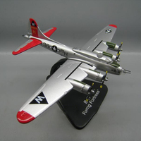 1:144 Scale Boeing B17B 17USA Army Heavy Bomber Diecast Metal Military Plane Bracket aircraft Airplane Model Display collections