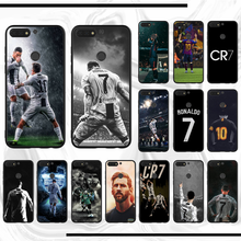Ronaldo Sepak Bola Superstar Lionel Messi Phone Case Untuk Honor Y6 2018 8X9 Lite Pemandangan(China)