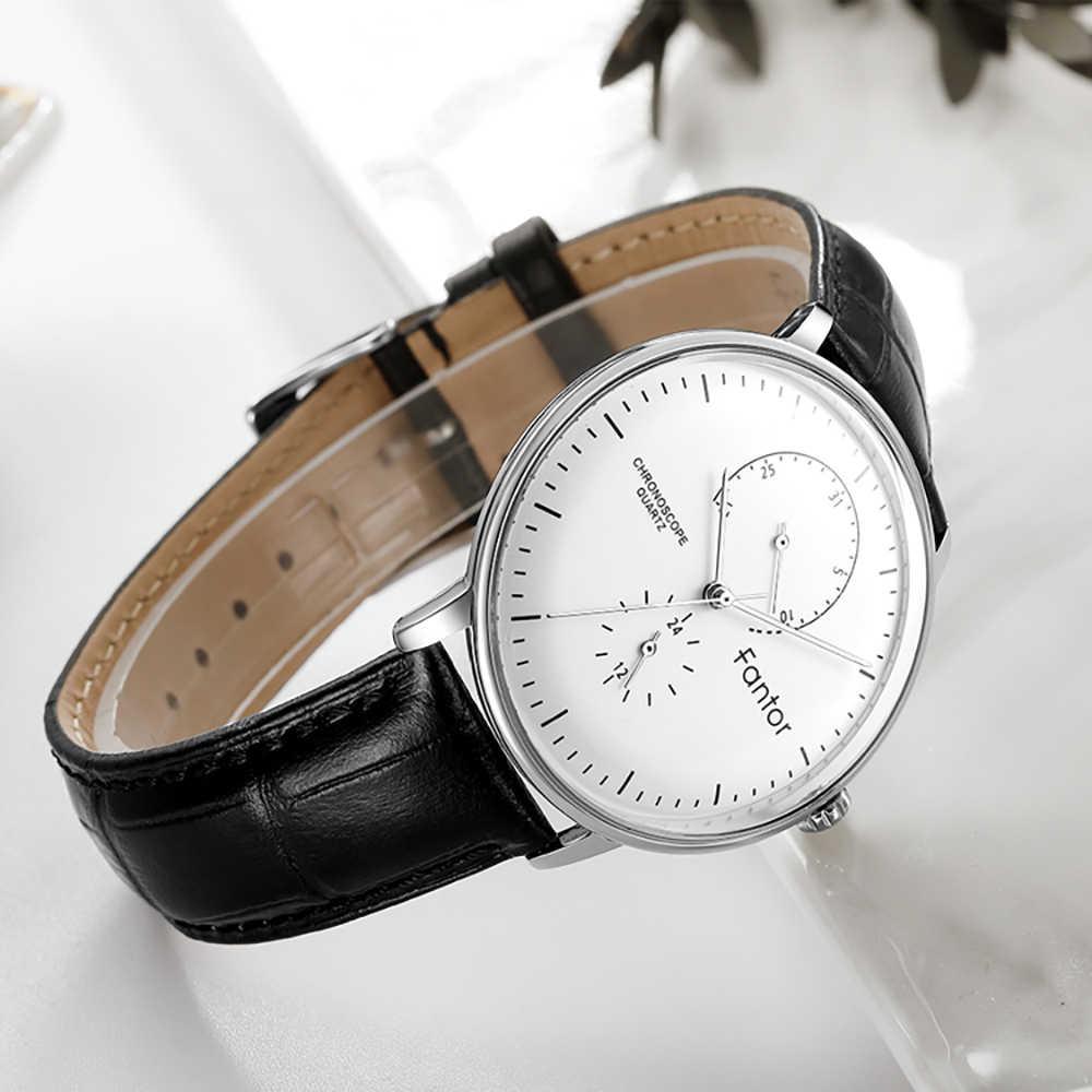 Fantor Top Marke Luxus Beiläufige Uhr Männer Business Kleid Klassische Armbanduhr Herren Quarz Wasserdichte Uhr Lederband Uhr