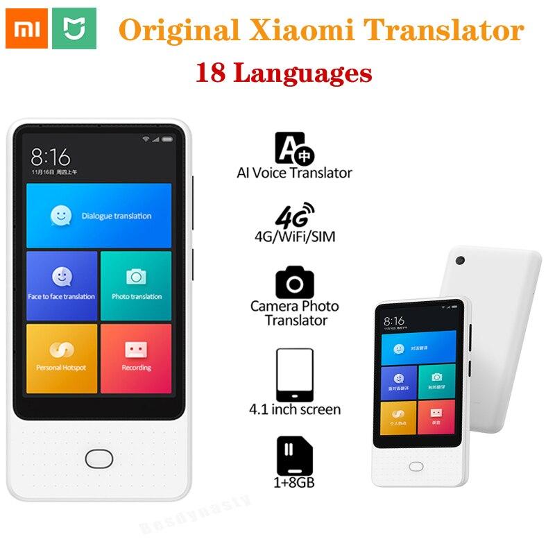 Traducteur vocal Original Xiaomi Mijia AI 1 + 8GB 18 langues 4.1inc écran tactile 4G/WiFi/SIM 6mic traducteur de Photo de caméra en ligne