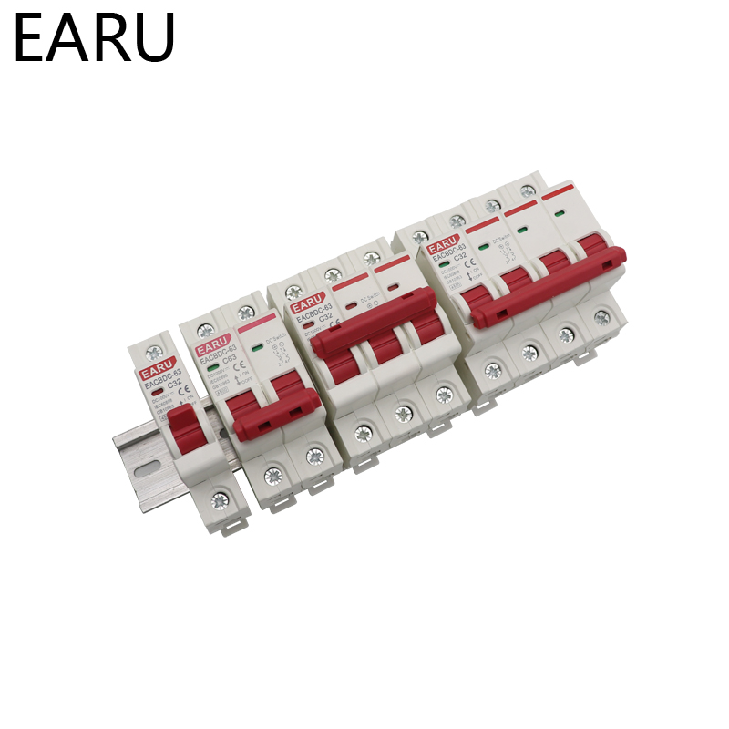 Hf852dac27d894151b7bb57a8e70ff016I - DC 1000V 1P 2P 3P 4PSolar Mini Circuit Breaker Overload Protection Switch 6A 10A 16A 20A 25A 32A 40A 50A 63A Photovoltaic MCB PV