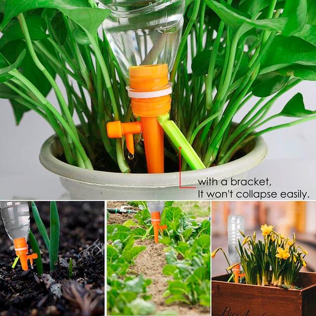 садовая система капельного орошения автоматическая полива растений фотография