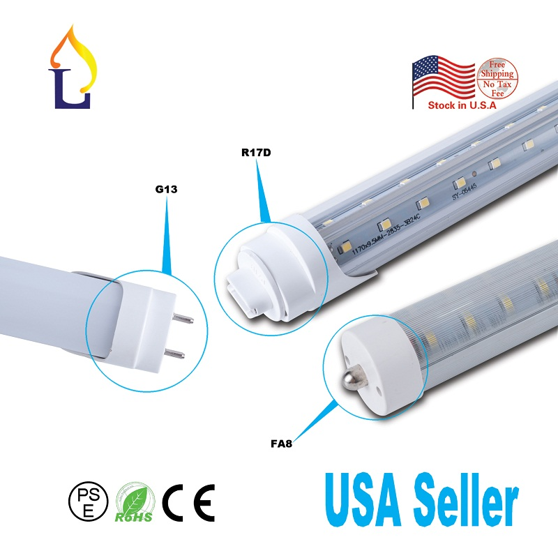6 pcs <font><b>T8</b></font> V shaped <font><b>Tube</b></font> Light 4FT 24W/40W Replace Fluorescent Light Household Lamp,indoor Strip Bar <font><b>bracket</b></font> installation image