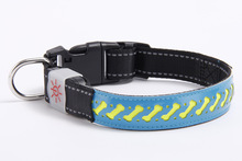 LED Shining Pet Dog Collar Varved Hide Substance Different Floral 4 PCs Color Currently Available Supply a Generation