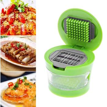 Mini Manual Garlic Grater Portable ABS Stainless Steel Garlic Press Chopper Slicer Hand Presser Grinder Crusher Kitchen Tool image