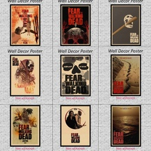 Fear of the Walking Dead Fan Art Kraft Paper Wall Posters Stickers Home Decor 42X30cm
