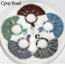 Cpop Vintage Boho Handmade Macrame Tassel Earrings Ethnic Circle Arylic Bridesmaid Gifts Jewelry Women Accessories 2019