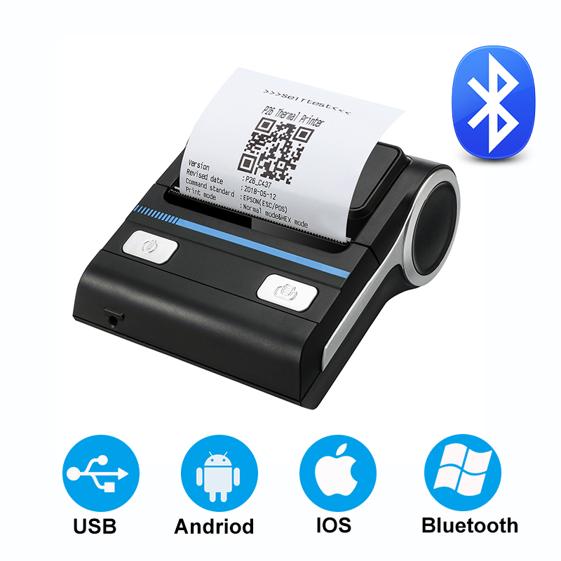 Thermische Empfang Drucker Bluetooth Wireless USB Mini Drucker Kompatibel mit Android/iOS/Windows ESC/POS Druck Maschine