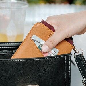 Image 5 - NewBring עור דרכון כיסוי נסיעות ארנק גברים עבור כרטיס אשראי פנקס הצ קים מזהה מחזיק כרטיס קליפ ארנק דרכון בעל נשים