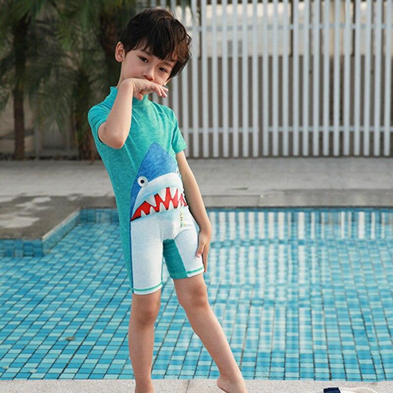 KID'S Swimwear BOY'S Small CHILDREN'S Baby Infant Cute Sharks Bathing Suit Sun-resistant Quick-Dry Spa Resort Bathing Suit