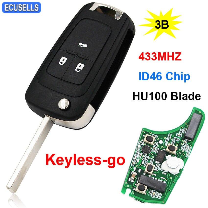 3 On Keyless Go Folding Remote Key
