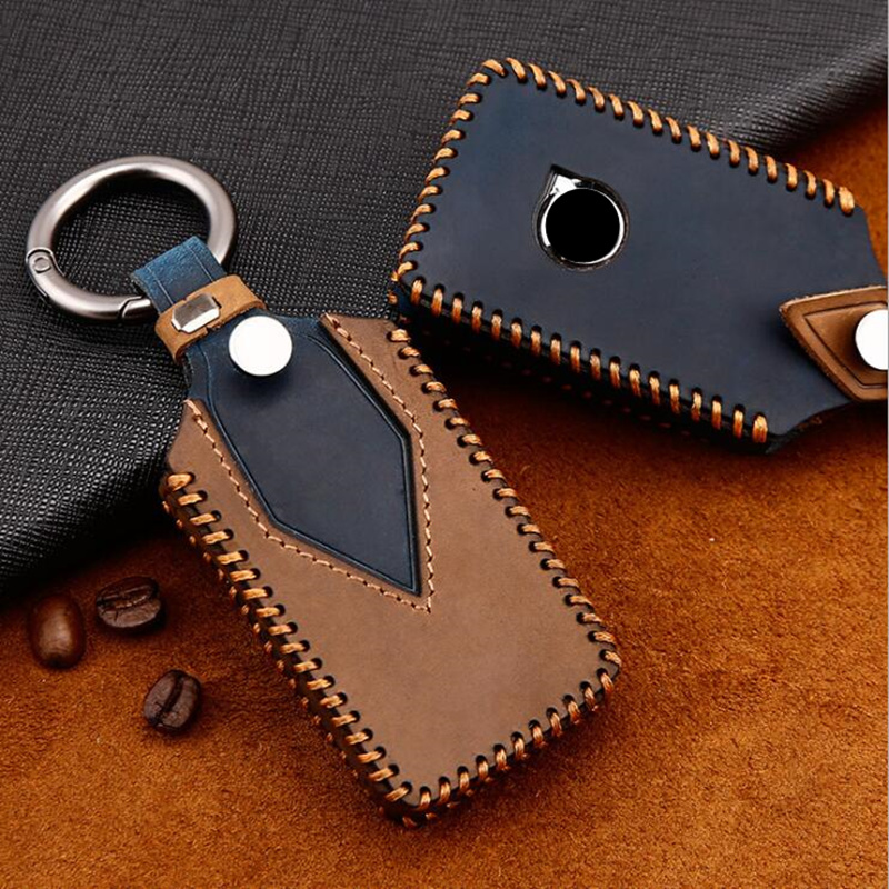Wear-resistant Genuine Leather Smart Car Key Case Cover Bag For VOLVO S90 V90 XC90 XC60 XC40 Car styling Accessories