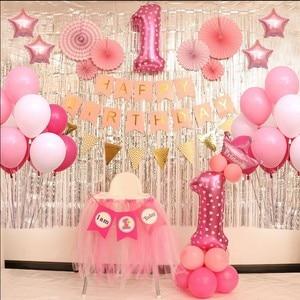 Dla dzieci Party dekoracje zestaw 1 rok motyw nowonarodzone dziecko chłopcy dziewczyny Birthday Party dla dzieci chłopcy dziewczęta dekoracje świąteczne