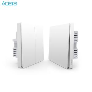 Image 1 - Aqara Wand Schalter Licht Schalter ZigBee Version Einzelnen Feuer/Null Feuer/Wireless Schalter APP Control Fernbedienung Smart Home kit