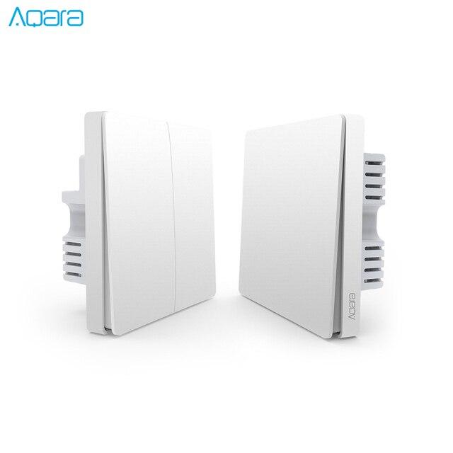 Aqara קיר מתג אור מתג ZigBee גרסה אחת אש/אפס אש/אלחוטי מתג APP שליטה מרחוק בית חכם ערכת