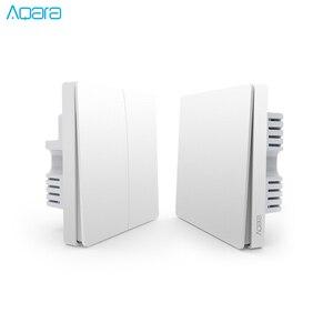Image 1 - Aqara настенный выключатель, светильник ZigBee версия, один огонь/нулевой огонь/приложение для беспроводного переключателя, пульт дистанционного управления, умный дом