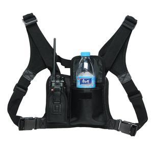 Image 1 - ABBREE Harness brust Vorne Packung Beutel Holster Tragen tasche für Baofeng UV 5R UV 82 UV 9R Plus BF 888S TYT Motorola Walkie Talkie