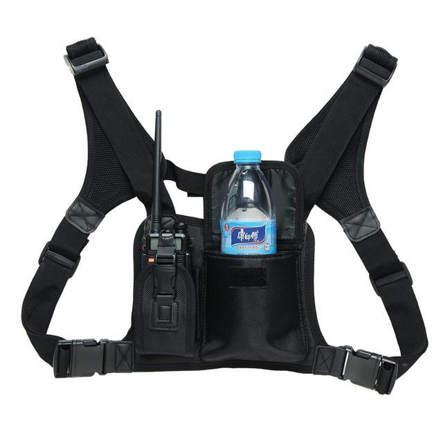 ABBREE Harness brust Vorne Packung Beutel Holster Tragen tasche für Baofeng UV 5R UV 82 UV 9R Plus BF 888S TYT Motorola Walkie Talkie