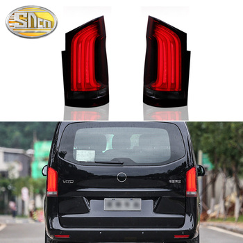 Car LED Tail Light Taillight For Mercedes Benz V-Class Vito V250 V260 2016 - 2020 Rear Fog Lamp + Brake + Reverse + Turn Signal w447 vito diamonds style front grille grill fit for mercedesmb v class abs black sport without sign v260 v250 look grills 16 19