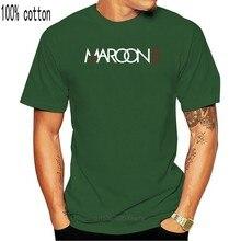 Um yona 2020 nova la rock band maroon 5 o-neck manga de alta qualidade algodão marca camisa dos homens t, estilo de moda camisa marrom dos homens.