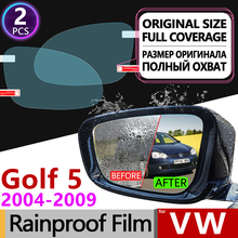 купить For Volkswagen VW Golf 5 MK5 2004 - 2009 1K Full Cover Anti Fog Film Rearview Mirror Rainproof Anti-Fog Films Clean Accessories дешево