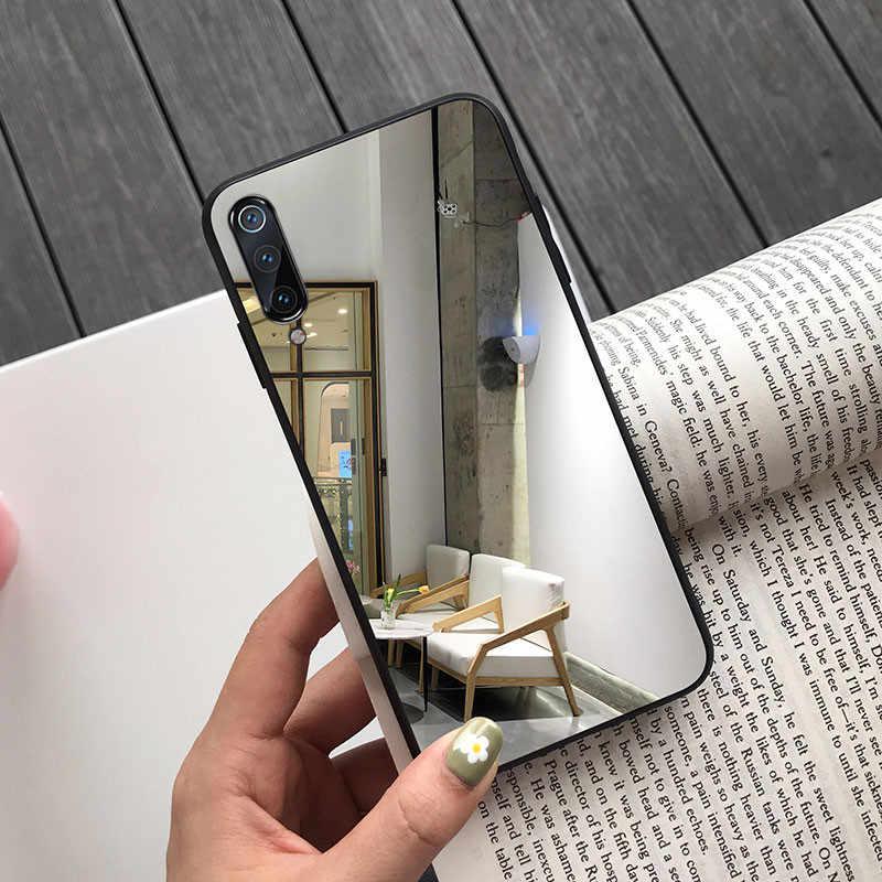 Funda de moda para Samsung Galaxy A20 A30 A50 A70 A6 A8 A7 2018 S10 S8 S9 Plus S10e espejo funda trasera funda Anti-rasguño