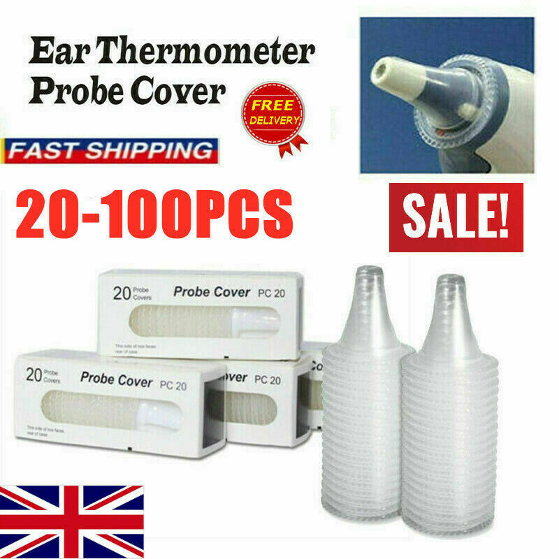 100PCS Ear Thermometer Covers Replacement Lens Ear Thermometer Filter Cap Probe Braun Thermoscan Using  Replacement Filters