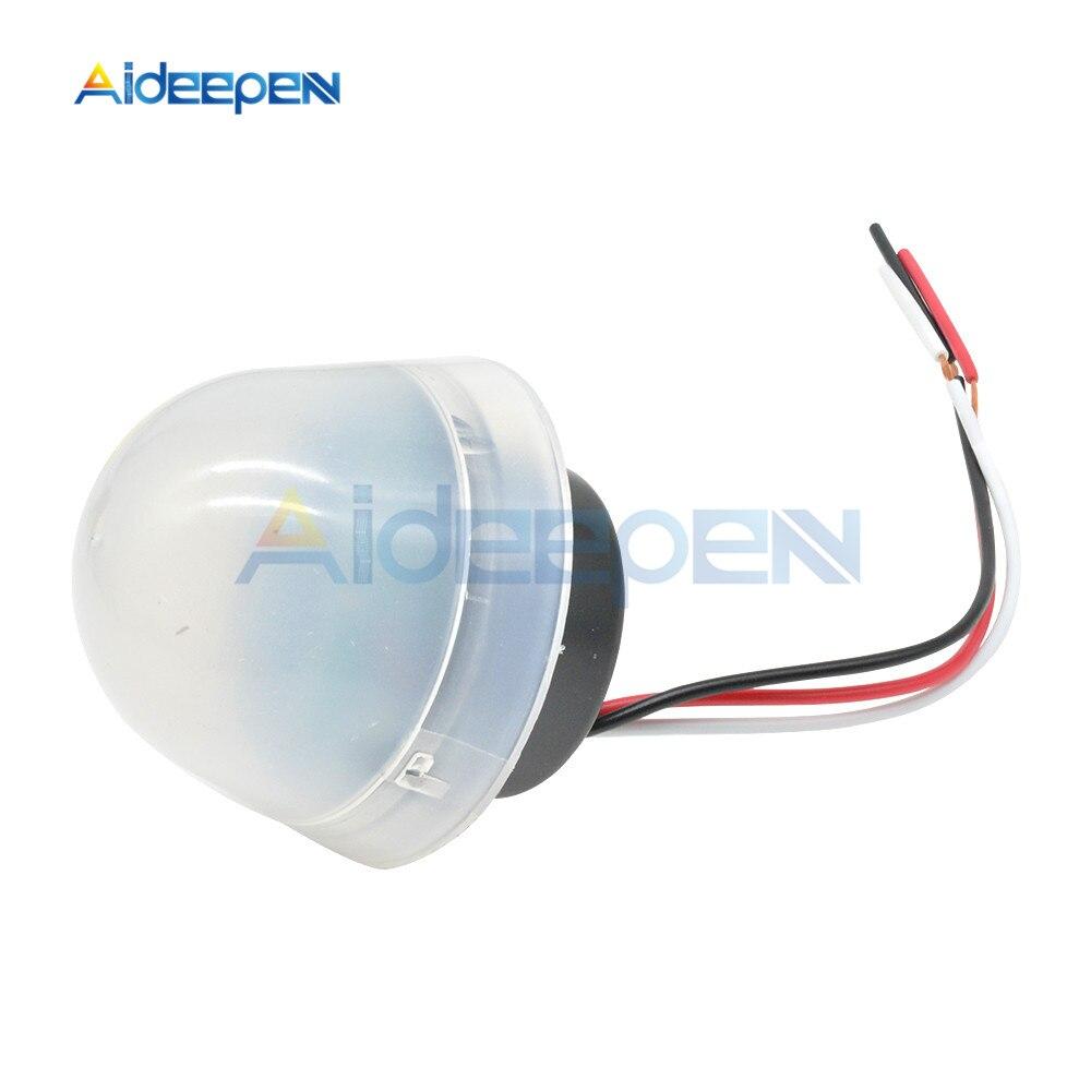 AC 110V 220V DC 12V Automatic Auto On Off Photocell Street Light Switch 50-60Hz Photo Control Photoswitch Sensor Control Switch