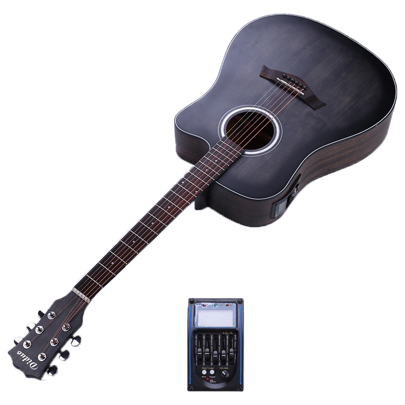 41 Inch Folk Guitar Picea Asperata Electric Box Guitar Mahogany Acoustic Guitar 6 String Concert Guitar With PickupAGT201