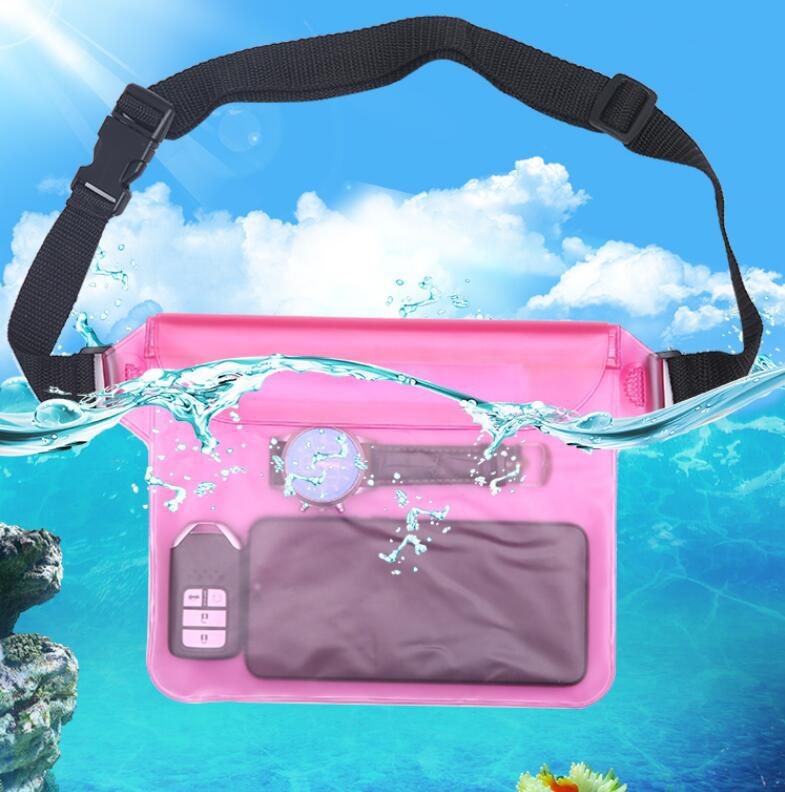 Waterproof Beach Bag Phone PVC Underwater Dry Frosted Translucent Bags Shoulder Waist Pack Swimming Bag For Swimming Drifting