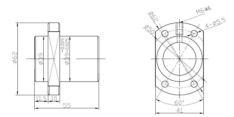 1 шт. SFU1204/1604/1605/2004/2005/2010/2505/2510/3205/3210 шарикового винта станков шариковый винт один шариковая гайка с ЧПУ DIY вырезка деталей машин - Цвет: sfe2020 single nut