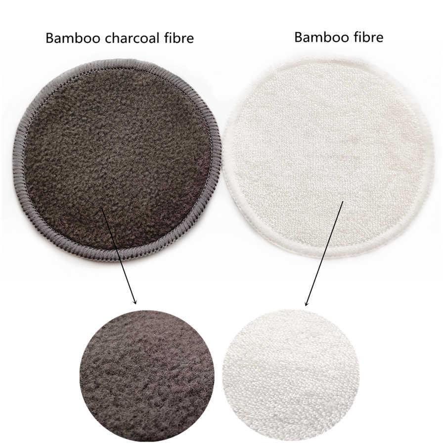 Wielokrotnego użytku bambusowy zmywacz do makijażu 12 sztuk/paczka zmywalne kule oczyszczające bawełniane do twarzy makijaż podkładki do usuwania narzędzia