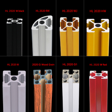 2PCS 2020 Aluminum Profile Extrusion Length Linear Rail 500mm For DIY 3D Printer Workbench CNC