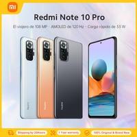 Globale Version Xiaomi Redmi Hinweis 10 Pro 6GB 64GB / 128GB Handy 108MP Kamera Snapdragon 732G 120Hz AMOLED Display 33W Schnelle