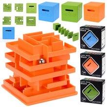 3D Интеллект 3 сложности многослойный шарикоподшипник лабиринт квадратный Кубик Рубика игрушка Улучшенная прочная развивающая игрушка