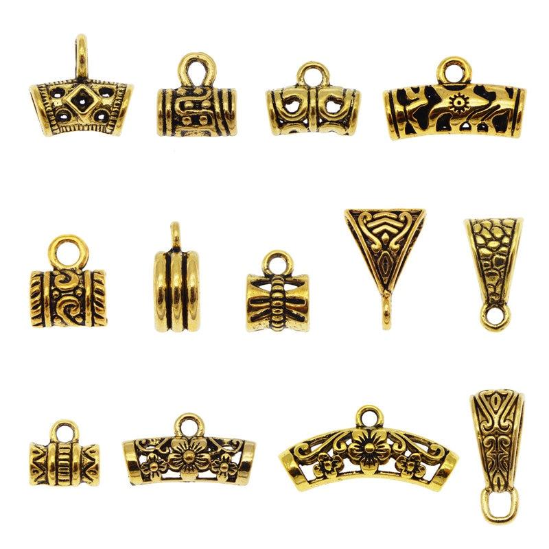 Бусины-подвески Julie Wang, бусины под античное золото, бусины-разделители, европейские браслеты, подвески, ожерелья, аксессуары для изготовлени...