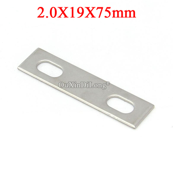 NEW 50PCS Stainless Steel Straight Flat Corner Brace Furniture Connecting Fittings Frame Board Support Brackets Repair Parts