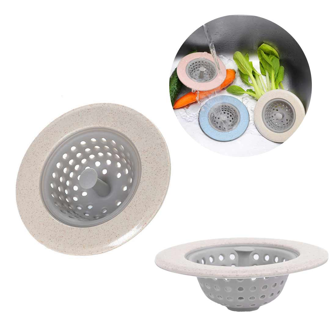 Kitchen Silicone Wheat Sink Strainers Filters Floor Sieve Drain Filter Mat Gadgets Mesh Sewer Hair Catch Bathroom Clean Tool
