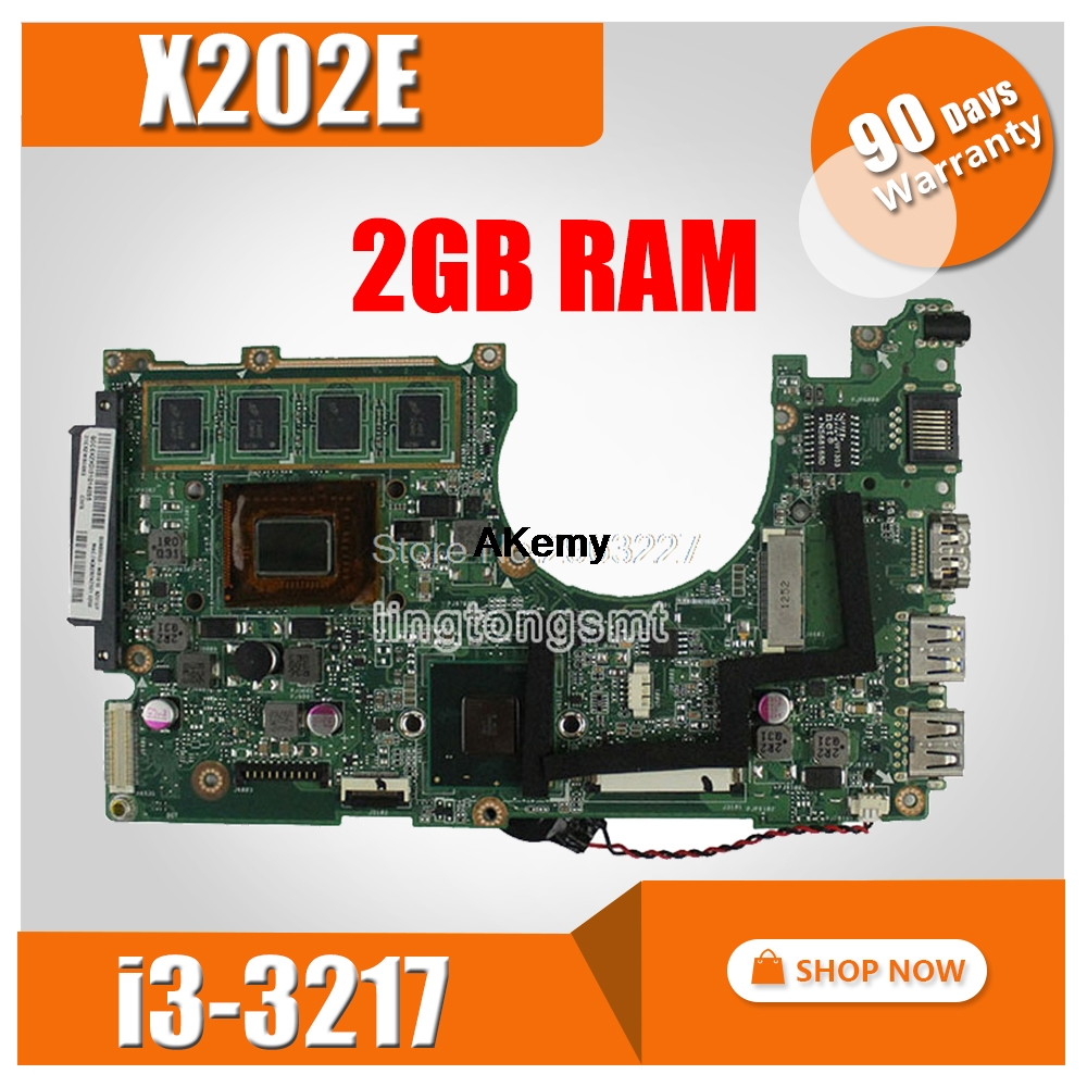 X202E Motherboard REV2.0 For <font><b>ASUS</b></font> S200E <font><b>X201E</b></font> X201EP <font><b>Q200E</b></font> Laptop motherboard Mainboard test 100% i3-3217 2GB RAM image