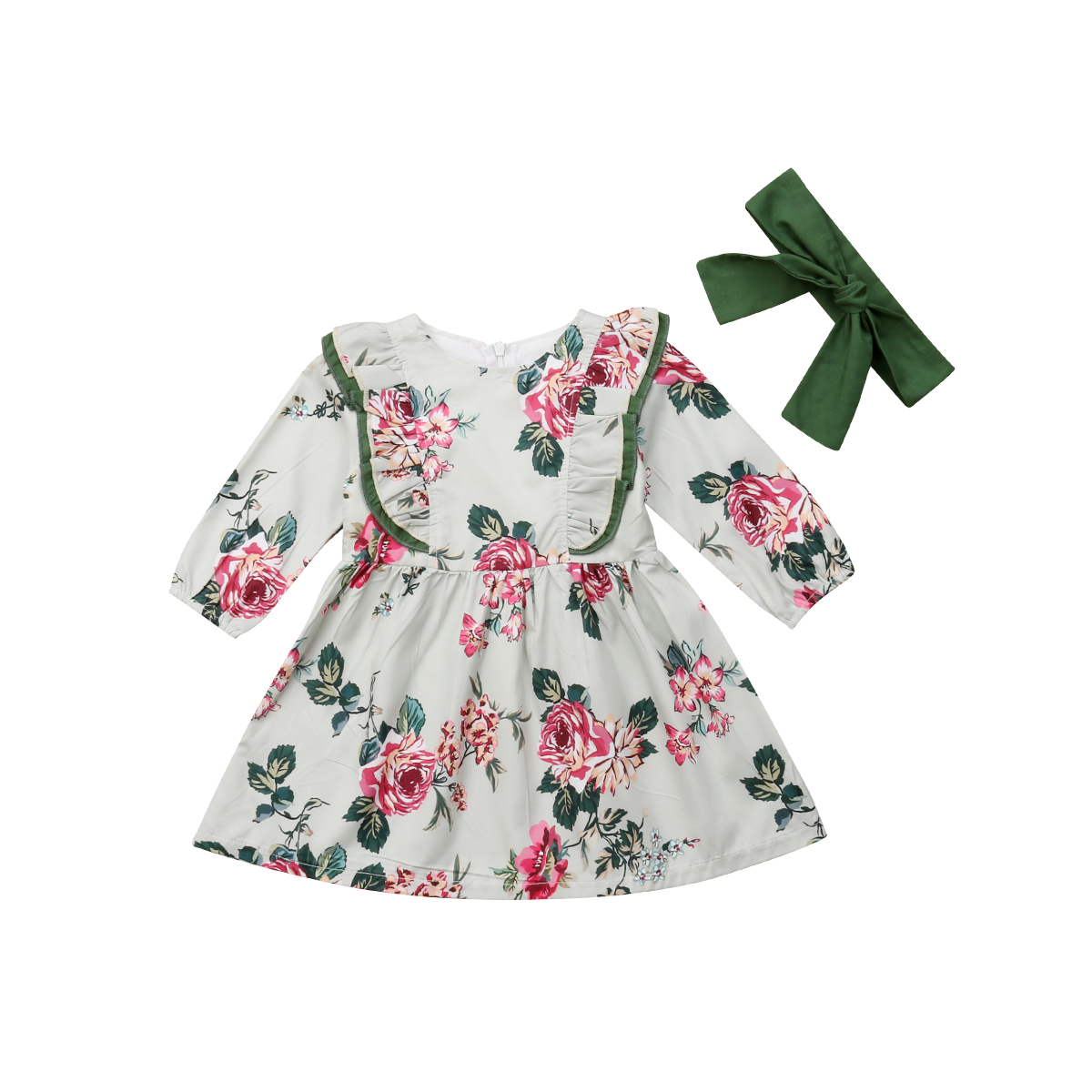 Toddler Kid Baby Girl Christmas Outfits Long Sleeve Pageant Party Princess Dress