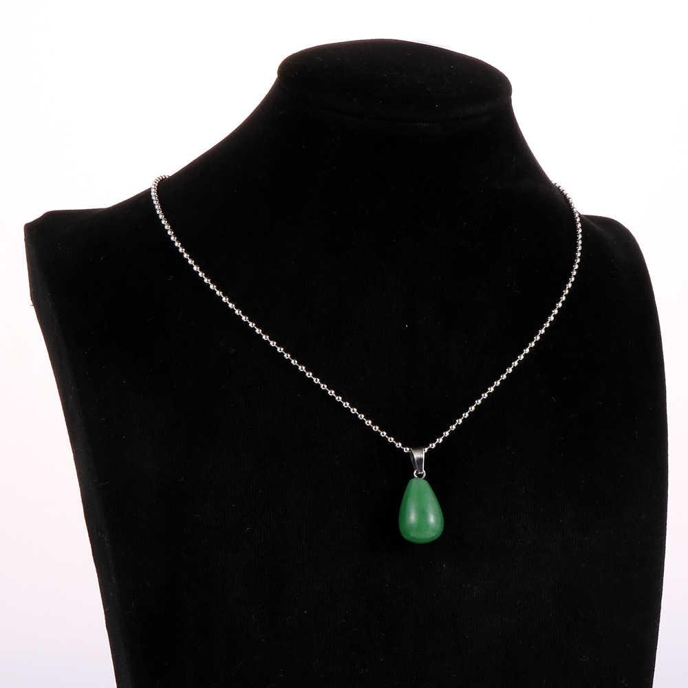 Nam Nữ Tự Nhiên Đá Mắt Hổ Hình Giọt Nước Mặt Dây Chuyền Vòng Cổ Opal Onyx Quyến Rũ Có Thể Điều Chỉnh Hợp Kim Bóng Dây Chuyền Xương Đòn Dây Chuyền Trang Sức