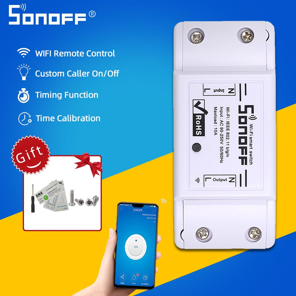 ITEAD SONOFF Basic/RF/TH10/TH16/Dual/Mini/Pow R2 Wifi Remote Control Wireless Smart Switch Light Timer Support Google Home Alexa