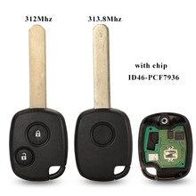 Jingyuqin 1/2 BTN FSK 312,12 МГц/313,8 МГц ID46 чип дистанционный ключ-брелок от машины для Honda Fit Stepwagon Odyssey -2006